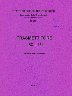 Trasmettitore BC-191 1973